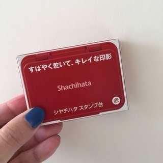 Shachihata 印台 紅色