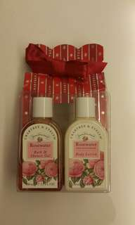 150ml Crabtree & Evelyn Rosewater shower gel n body lotion