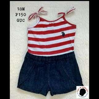 Stripes Romper For Baby Girl