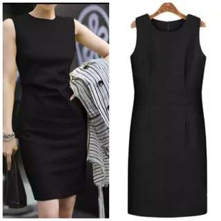 Fayth Black Work Dress