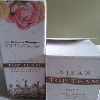 Aisan Top Team Shinning Diamond Flower Essence Shampoo & Hair Mask