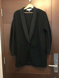 Stella Mccartney black cocoon shape Blazer