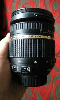 Tamron SP  17-50 mm F /2.8 VC len.