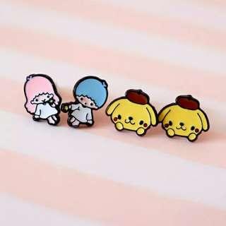[BUY 2 FREE 1] little twin stars pompom purin ear studs