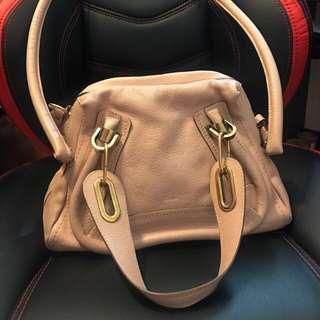 接近9成新 Chloe 粉紅色兩用側揹手挽兩用袋