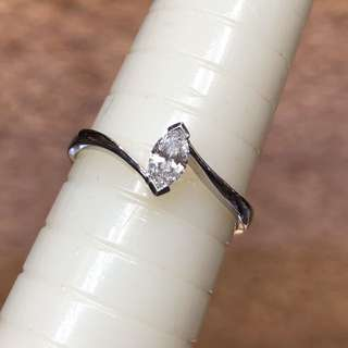 18kt marquise diamond ring 欖尖鑽石戒指