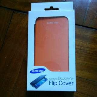 原廠 Samsung S4 Flip cover 機套(橙色)