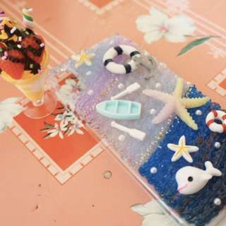 水晶奶油手機殻-海洋🌊
