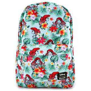 Loungefly x Ariel Flowers & Leaves Print Backpack