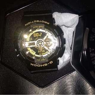 Casio Mens GA110GB-1A G Shock Limited Edition Analog Digital Black Watch