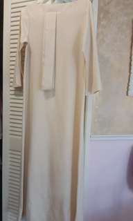 Long off white dress