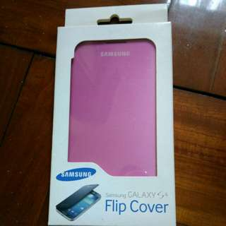 原廠 Samsung S4 Flip cover 機套(粉紅色)