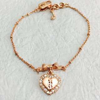 Juicy Couture rose gold heart bracelet