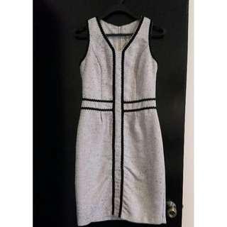 Preloved Knee length tweed fabric dress