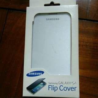 原廠 Samsung S4 Flip cover 機套(白色)