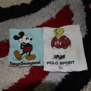 Vintage polo bear & mickey mouse