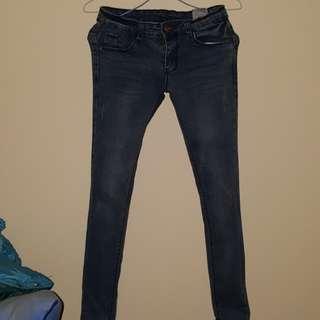 顯瘦牛仔長褲