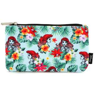 Loungefly x Ariel Flowers & Leaves Print Coin / Cosmetic Bag