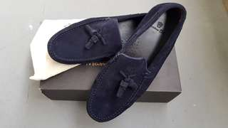 Massimo Dutti Navy Loafers