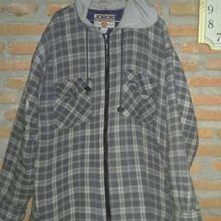 flanel zip hoodie