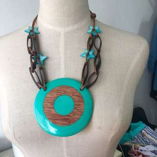 Brand new boho resin statement pendent necklace