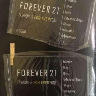 Discounted Forever 21 Gift Cards Php2,000 denomination