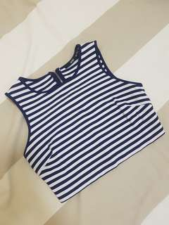 Sportsgirl Striped Crop Top
