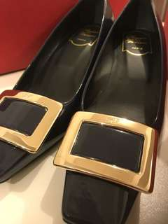 Roger Vivier Belle Navy Blue 100% Brand New