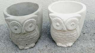 Owl Shape Home-made Planter Pot