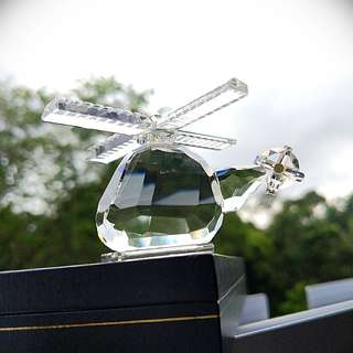 Unique helicopter Crystal tozlem kristal ( display/ paper weight)