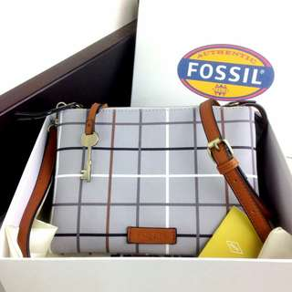 Tas Wanita  Fossil Devon Multi Double Zip Crossbody F1061*