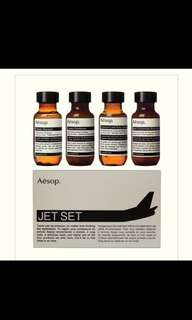 BN Aesop jet set travel body wash shampoo conditioner and moisturiser