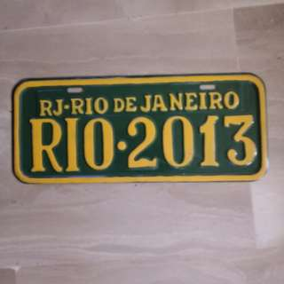 RIO DEJANEIRO car plate