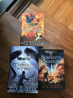 3 books bundle- Kane Chronicles by Rick Riordan