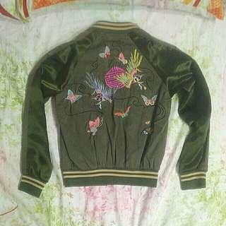 棒球外套,中國風刺繡
