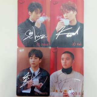 EXO 銀簽