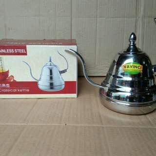 Classical kettle vavinci, ketel klasik bahan stainless, isi 1,2 lt