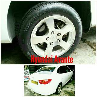Tyre 185/65 R15 Membat on Hyundai Avante 🐕 Super Offer 🙋♂️