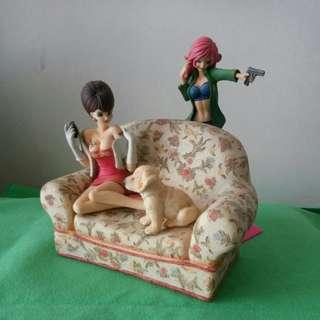 雜款扭蛋 女角情景品 (梳化陶瓷)