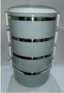 Eco Lunch Box Rantang 4 Susun Glossy Stainless Steel