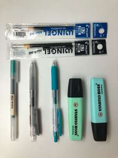 Stationery CLEARANCE (Muji Pens/Pilot Wingel refills/Sarasa/2BPencils..)