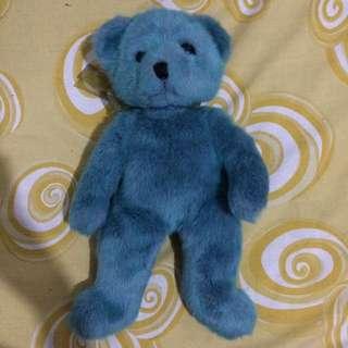 Blue bear doll