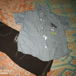 Snoppy Shirt + Anakku Pant (2yrs)