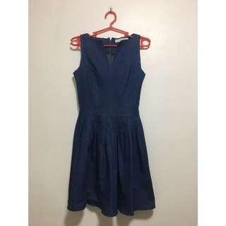 Preloved Apartment8 Bluebell Denim dress in Size S