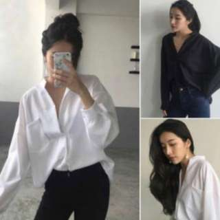 oversized boyfriend blouse