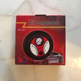 Air compressor for bicycle scooter electric dc cigarette connections
