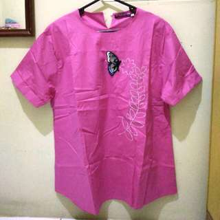 [NEW] Butterfly Blouse Pink