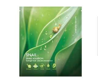 [Nature Republic] Snail Solution Hydrogel Mask