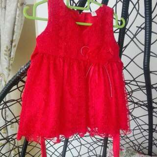 Baby Red Lace Gown #Bajet20