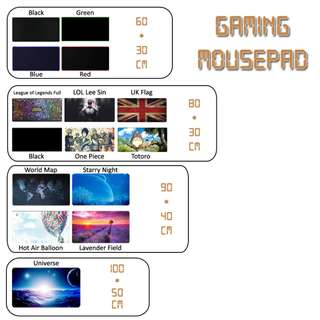 Gaming Mousepad / Mouse Pad